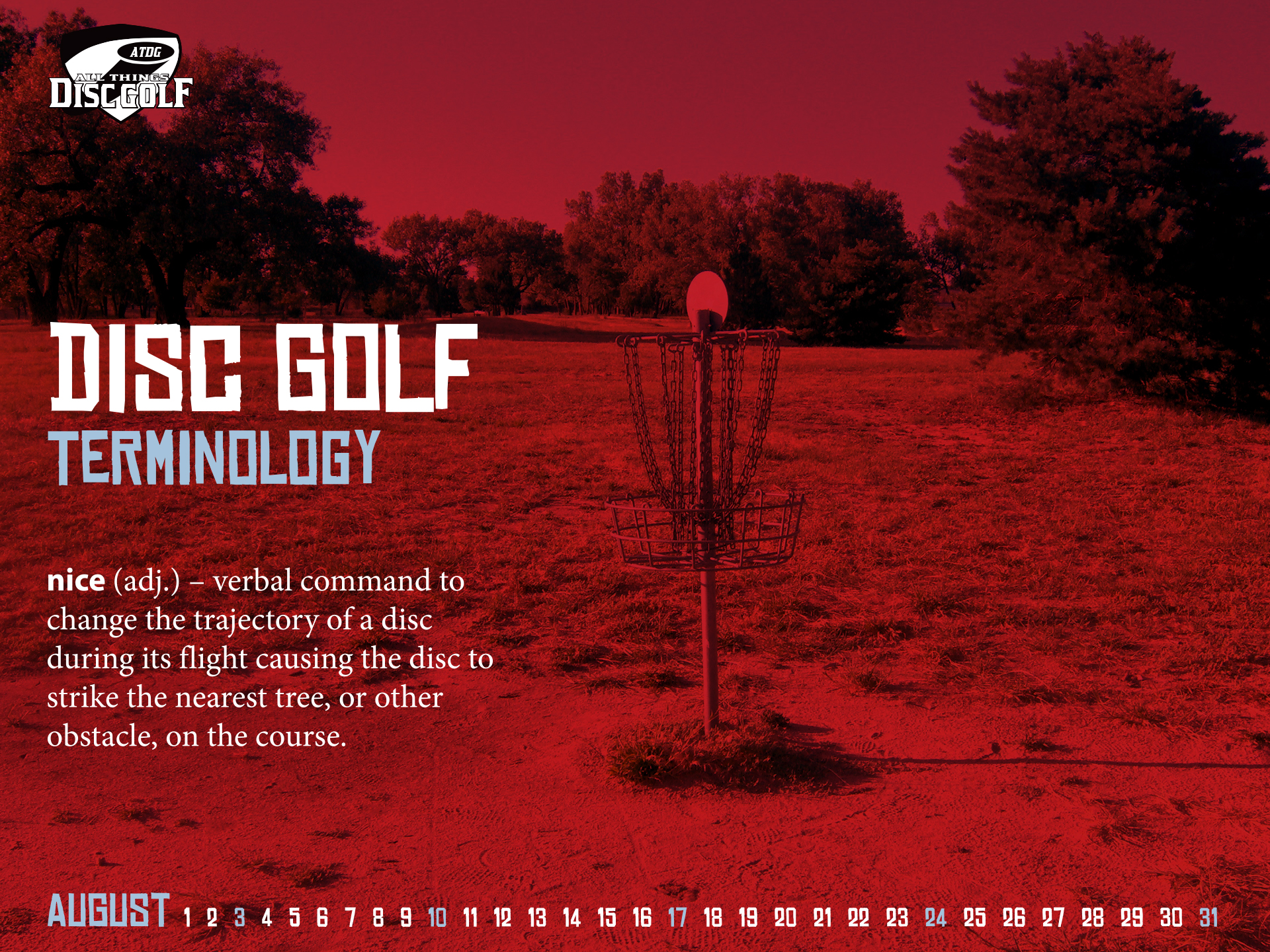 Disc Golf Backgrounds: August 2014