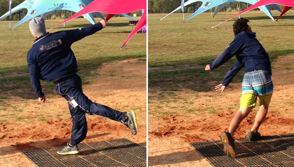 CSUMB competes in the distance competition. (Photo: CSUMB Disc Golf Team)