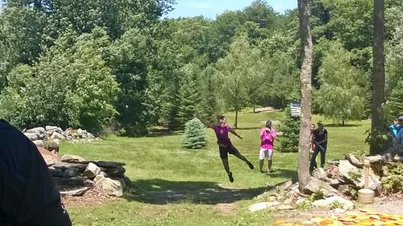 Paige's jump putt approach on 18. Photo by Joe Michalowski
