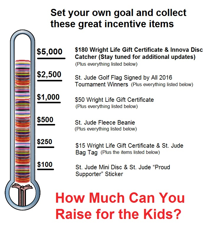 St. Jude Disc Golf Fundraising Incentives
